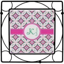 Linked Circles & Diamonds Square Trivet (Personalized)