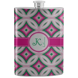 Linked Circles & Diamonds Stainless Steel Flask (Personalized)