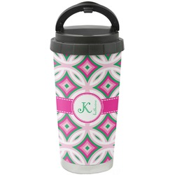 Linked Circles & Diamonds Stainless Steel Coffee Tumbler (Personalized)