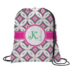 Linked Circles & Diamonds Drawstring Backpack (Personalized)