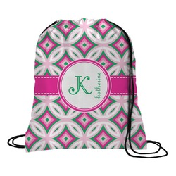 Linked Circles & Diamonds Drawstring Backpack (Personalized)