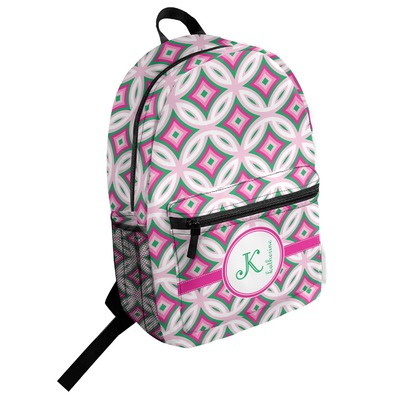 Linked Circles & Diamonds Student Backpack (Personalized)