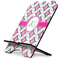 Linked Circles & Diamonds Stylized Tablet Stand (Personalized)