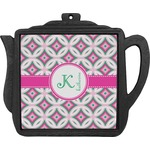 Linked Circles & Diamonds Teapot Trivet (Personalized)
