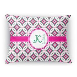Linked Circles & Diamonds Rectangular Throw Pillow Case (Personalized)