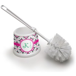 Linked Circles & Diamonds Toilet Brush (Personalized)