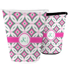 Linked Circles & Diamonds Waste Basket (Personalized)