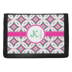 Linked Circles & Diamonds Trifold Wallet (Personalized)