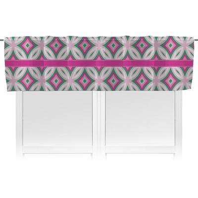 Linked Circles & Diamonds Valance - Lined (Personalized)