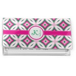 Linked Circles & Diamonds Vinyl Checkbook Cover (Personalized)