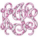 Linked Circles & Diamonds Monogram Decal - Custom Sized (Personalized)