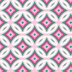 "Linked Circles & Diamonds Wallpaper & Surface Covering (Peel & Stick 24""x 24"" Sample)"