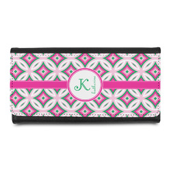 Linked Circles & Diamonds Leatherette Ladies Wallet (Personalized)