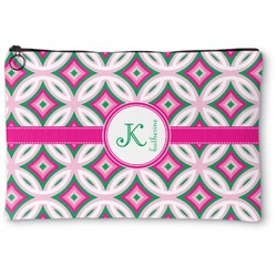 Linked Circles & Diamonds Zipper Pouch (Personalized)