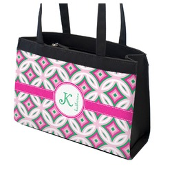 Linked Circles & Diamonds Zippered Everyday Tote (Personalized)