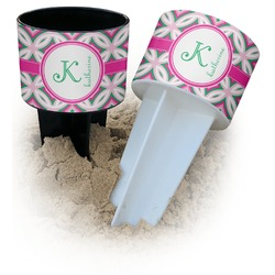 Linked Circles & Diamonds Beach Spiker Drink Holder (Personalized)