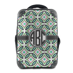 Geometric Circles Hard Shell Backpack (Personalized)