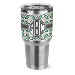 Geometric Circles Stainless Steel Tumbler - 30 oz (Personalized)