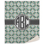 Geometric Circles Sherpa Throw Blanket (Personalized)