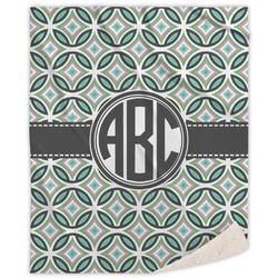 Geometric Circles Sherpa Throw Blanket (Personalized)