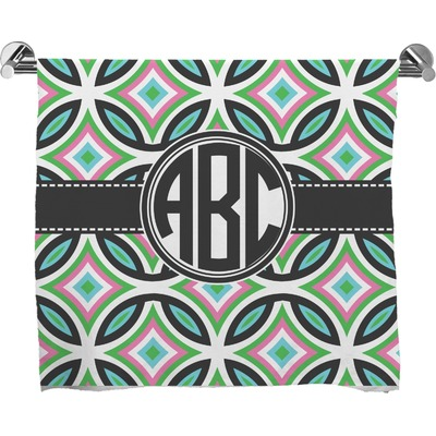 Geometric Circles Full Print Bath Towel (Personalized)