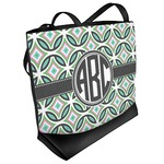 Geometric Circles Beach Tote Bag (Personalized)