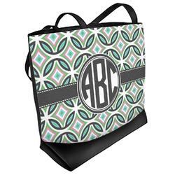 Geometric Circles Beach Tote Bag (Personalized)