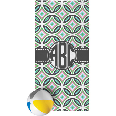 Geometric Circles Beach Towel (Personalized)