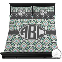 Geometric Circles Duvet Cover Set (Personalized)