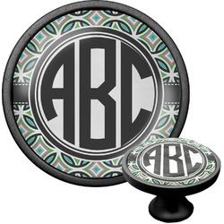 Geometric Circles Cabinet Knob (Black) (Personalized)