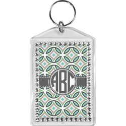 Geometric Circles Bling Keychain (Personalized)