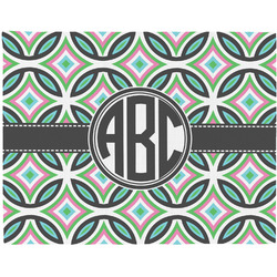 Geometric Circles Placemat (Fabric) (Personalized)