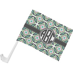 Geometric Circles Car Flag (Personalized)