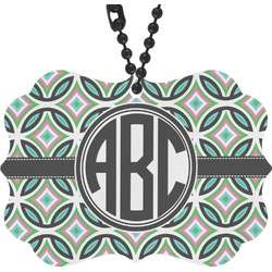 Geometric Circles Rear View Mirror Charm (Personalized)