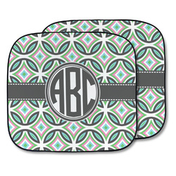 Geometric Circles Car Sun Shade - Two Piece (Personalized)