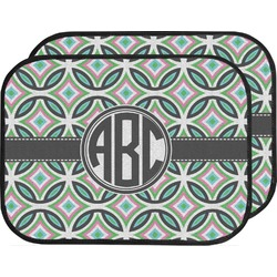 Geometric Circles Car Floor Mats (Back Seat) (Personalized)