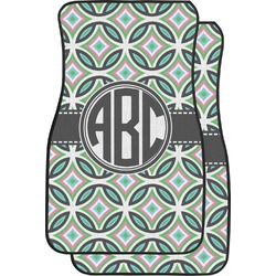 Geometric Circles Car Floor Mats (Front Seat) (Personalized)