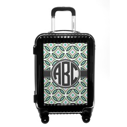 Geometric Circles Carry On Hard Shell Suitcase (Personalized)