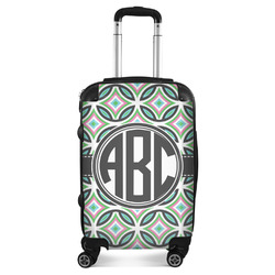 Geometric Circles Suitcase (Personalized)