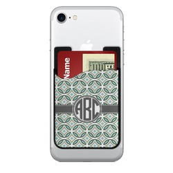 Geometric Circles 2-in-1 Cell Phone Credit Card Holder & Screen Cleaner (Personalized)