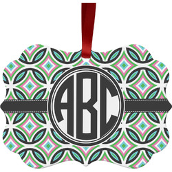 Geometric Circles Ornament (Personalized)