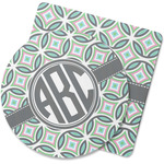 Geometric Circles Rubber Backed Coaster (Personalized)