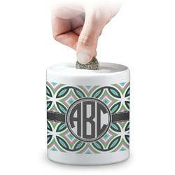 Geometric Circles Coin Bank (Personalized)