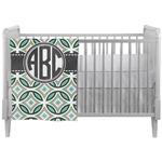Geometric Circles Crib Comforter / Quilt (Personalized)