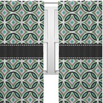 Geometric Circles Curtains (2 Panels Per Set) (Personalized)