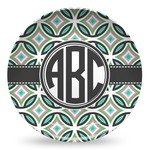 Geometric Circles Microwave Safe Plastic Plate - Composite Polymer (Personalized)