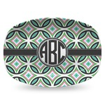Geometric Circles Plastic Platter - Microwave & Oven Safe Composite Polymer (Personalized)