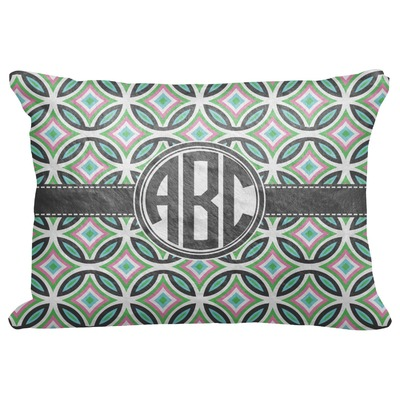 "Geometric Circles Decorative Baby Pillowcase - 16""x12"" (Personalized)"