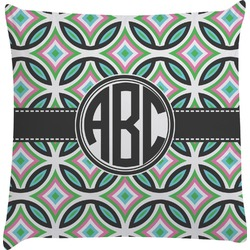 Geometric Circles Decorative Pillow Case (Personalized)