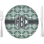 "Geometric Circles 10"" Glass Lunch / Dinner Plates - Single or Set (Personalized)"